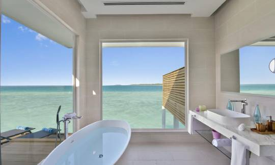 Bathroom view Aqua villa - kandima Maldives