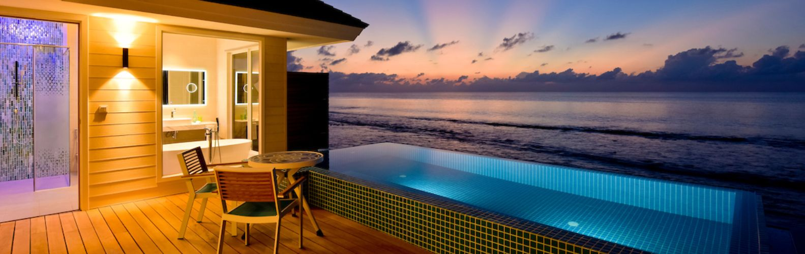 Kandima Maldives Ocean Pool Villa sunset view
